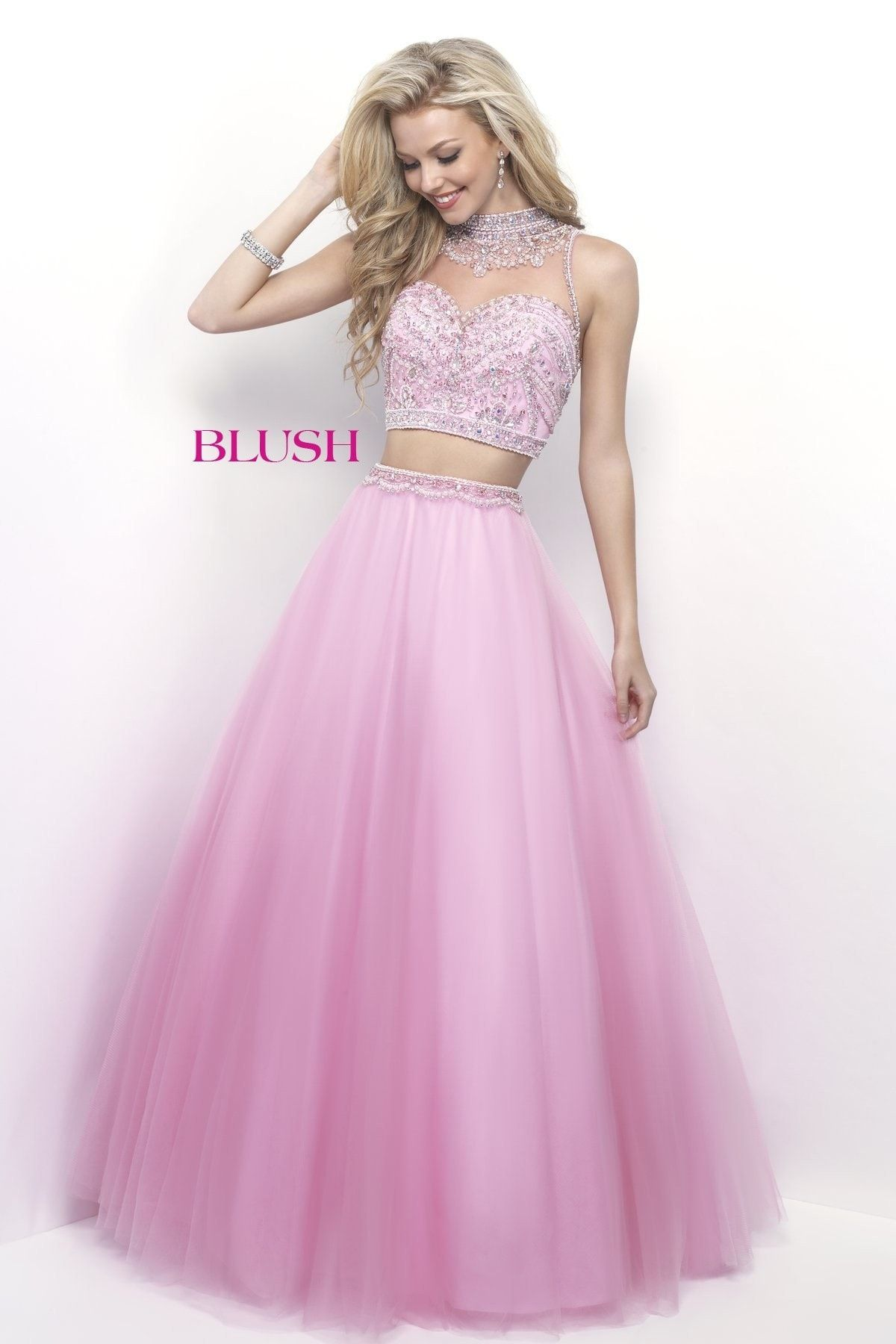 Pink by Blush 5618 Cotton Candy Pink Two-Piece Prom Dress | Prom ...