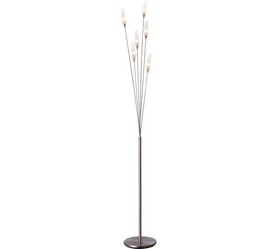 Buy HOME Hyatt 6 Light Floor Lamp - Satin Nickel at Argos.co.uk ...