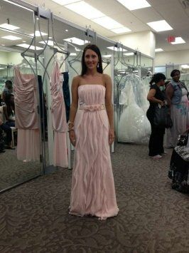 f2f133308bfa Pink Blush Chiffon Vw360102 Feminine Bridesmaid/Mob Dress | Wedding ...