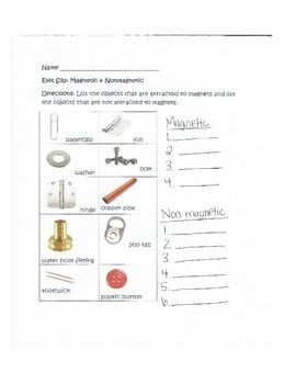 Magnetic And Nonmagnetic Exit Slip Magnets Science Student