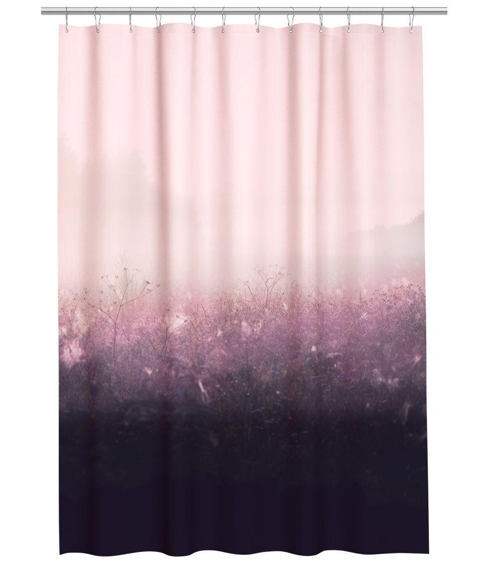 Duschvorhang Rosa Grau