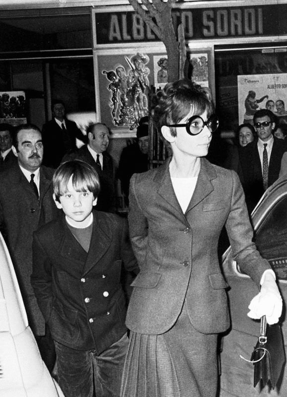 Audrey and son Sean in Rome
