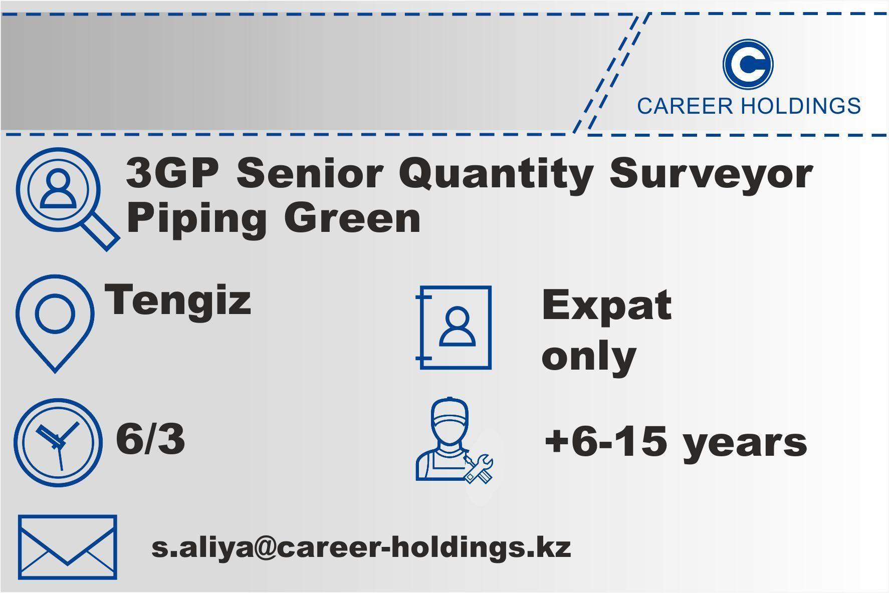 Kazakhstan Tengiz 3gp Senior Quantity Surveyor Human Resources