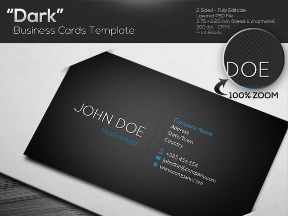 Dark black business card template black business card card dark black business card template cheaphphosting Choice Image