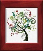 Albero Felice (Happy Tree) from Alessandra Adelaide cross stitch design available from Yarn Tree.