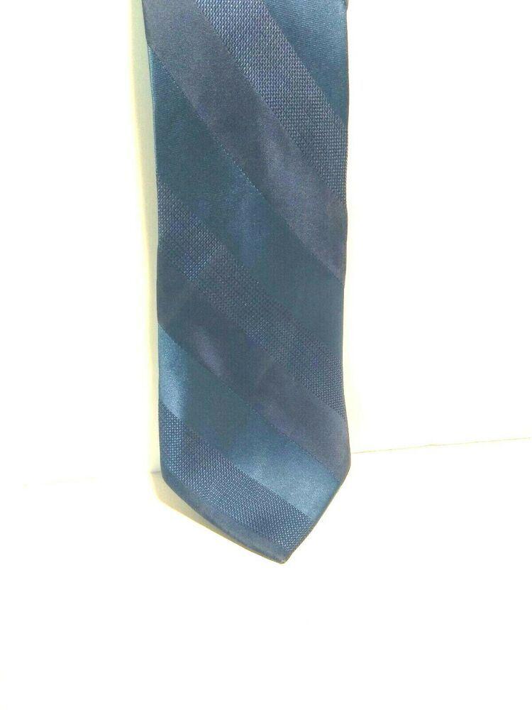 Nwt Van Heusen Classic Silk Tie 65 Made In Italy A3110 Vanheusen