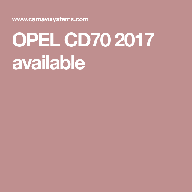 OPEL CD70 2017 available   Places to Visit   Gps navigation, Car