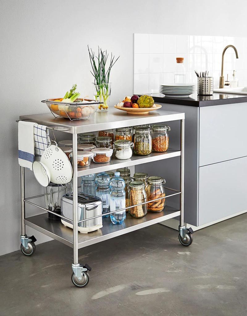 7 Portable Kitchen Island Design Ideas For Your Home Portable Kitchen Island Stainless Steel Kitchen Island Portable Kitchen