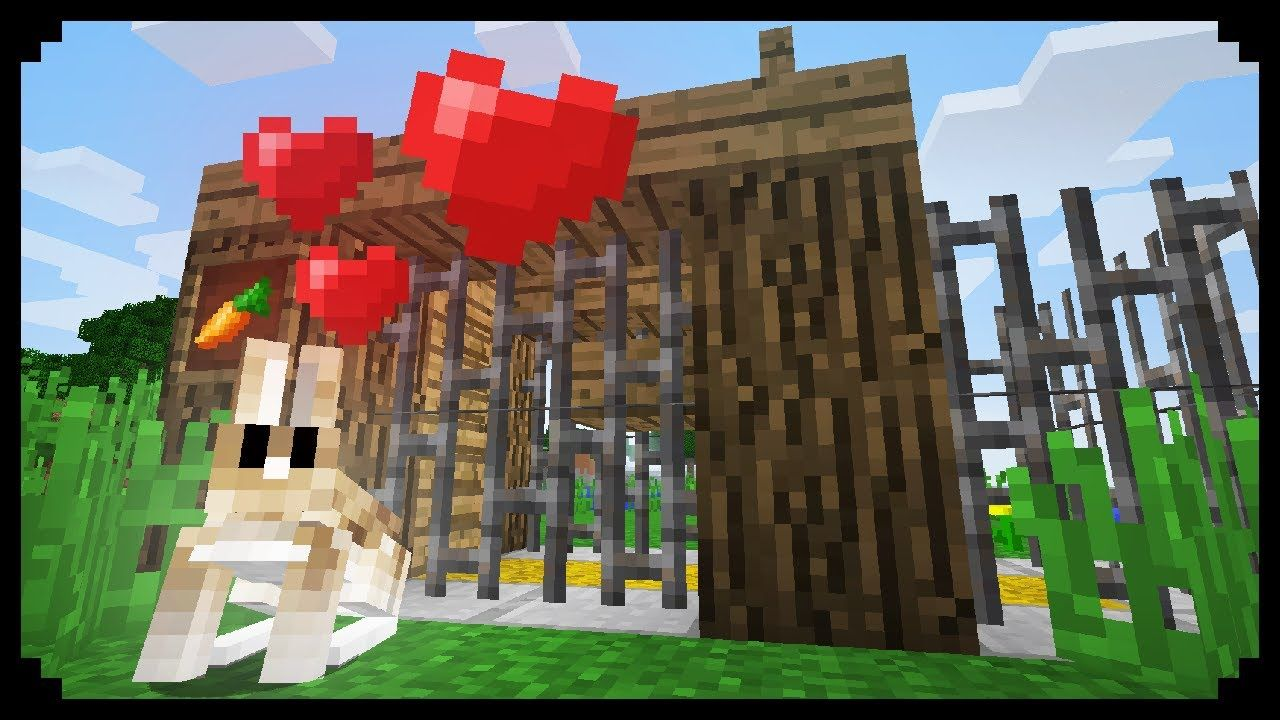 minecraft how to make a rabbit pen minecraft building