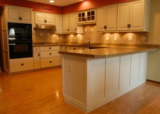 Delhi Ohio Kitchen Cabinets After detail on island, bead ...