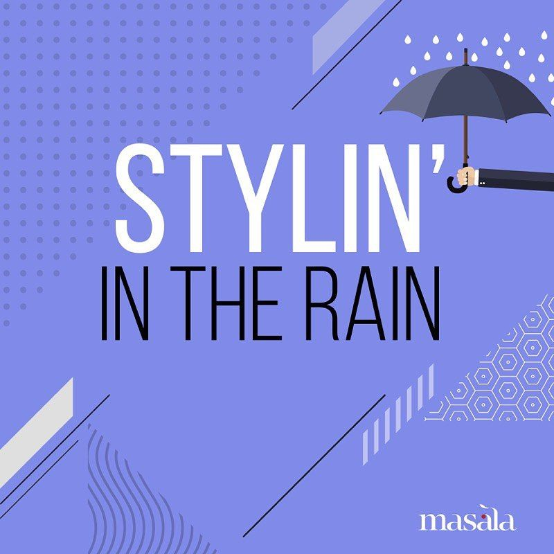 Don't let the rainy weather get you down... Be creative