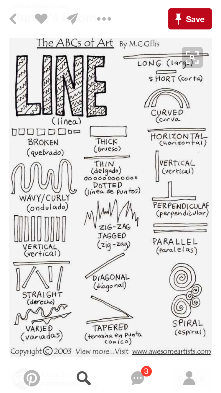 Image result for handout middle school art lines | Unit on Change ...