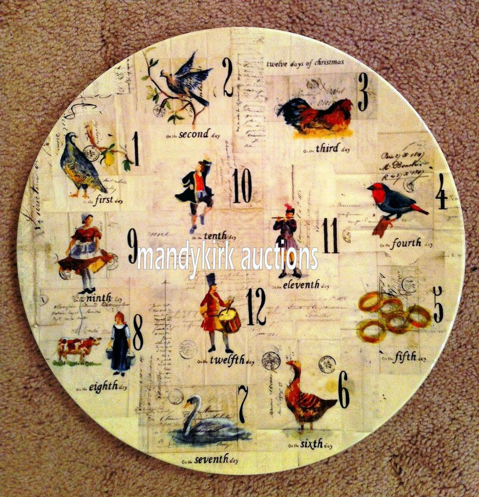 WILLIAMS SONOMA TWELVE 12 DAYS OF CHRISTMAS COOKIE PLATE PLATTER CHARGER NEW