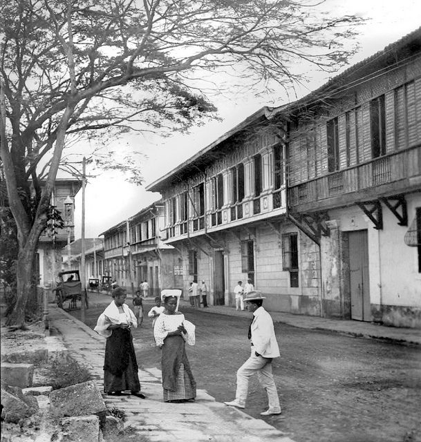 A Prominent Street In Intramuros Manila Philippines Late 19th