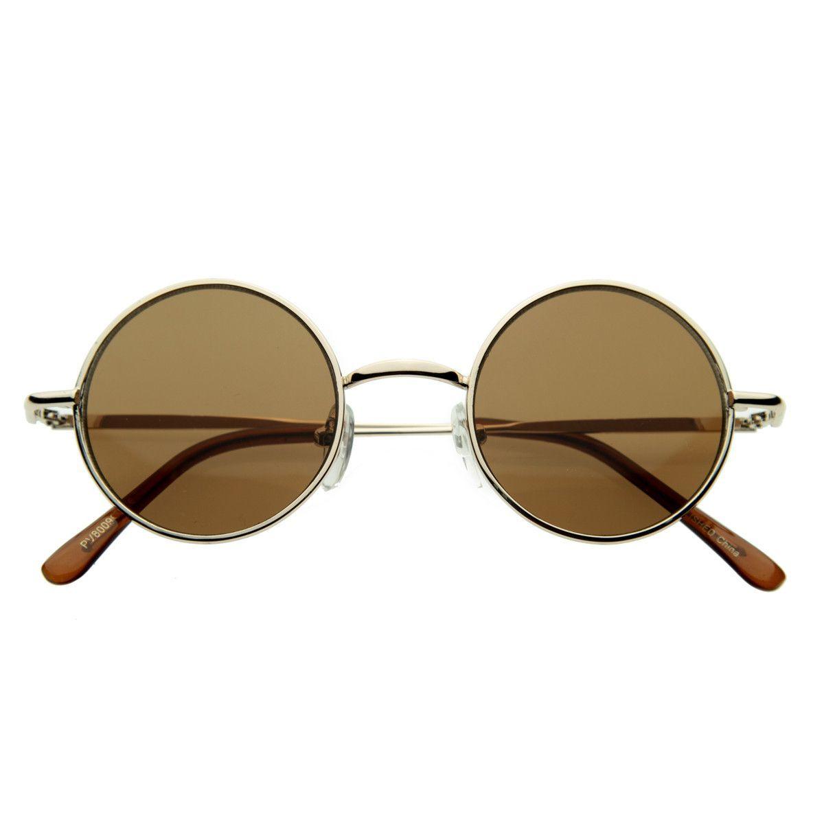 b2ac3e3d55 Small Retro Lennon Style Round Dapper Sunglasses 8237