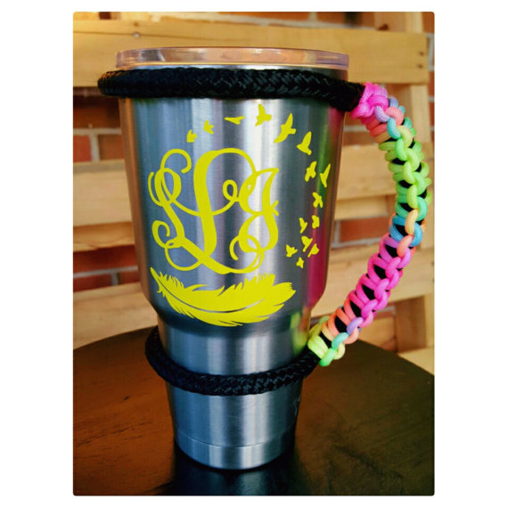 Ramblers Cups Camping Travel Paracord Tumbler Handle for 20 oz 30 oz