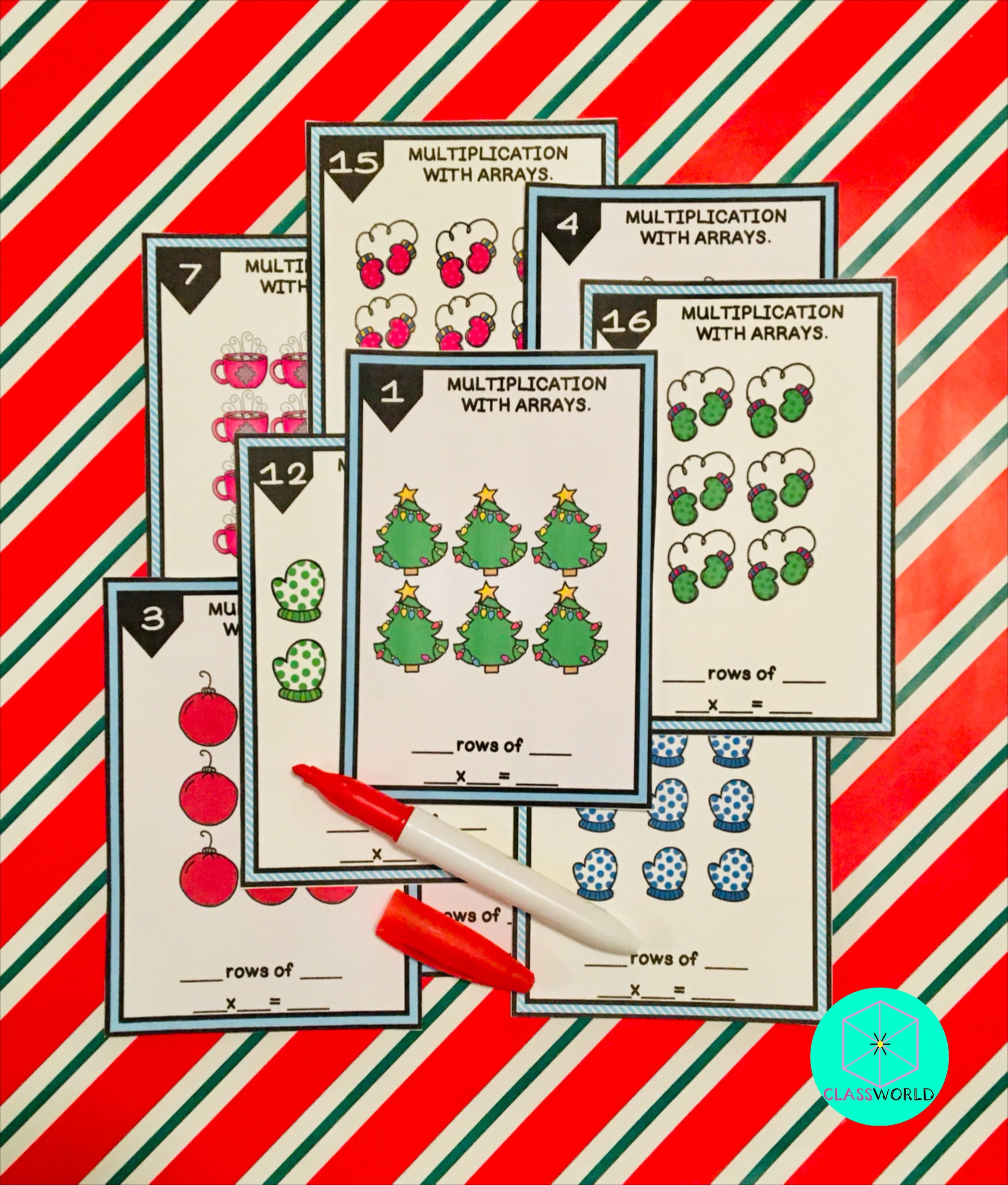 Winter Multiplication Task Cards Multiplication With