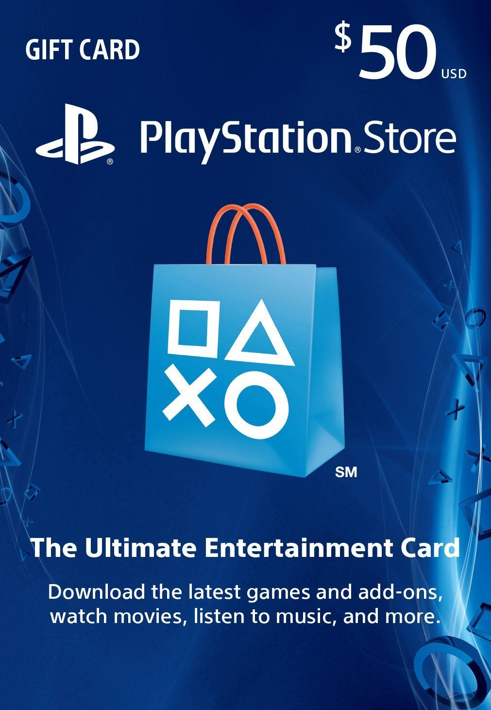 50 PlayStation Store Gift Card PS3/ PS4/ PS