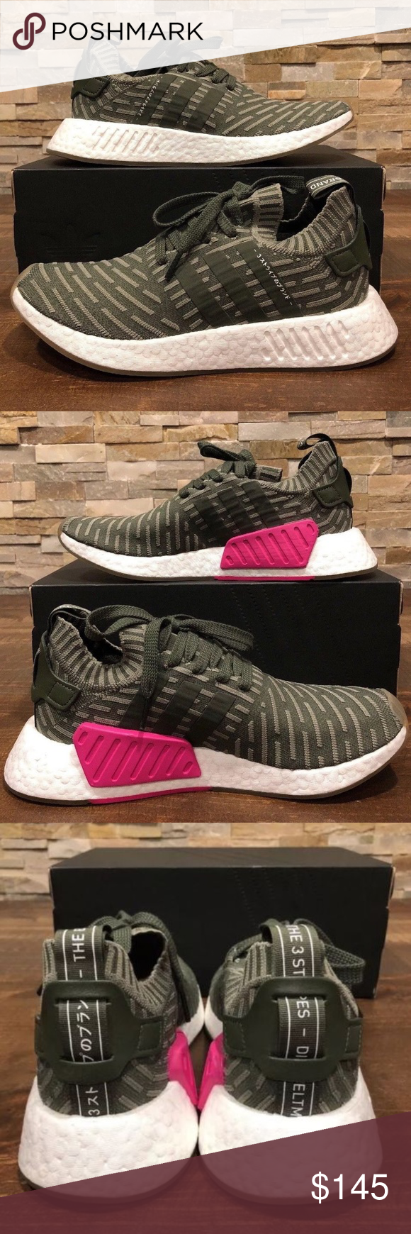 888ea988cb8af NEW WOMENS ADIDAS SHOES NMD R2 NEW WOMENS ADIDAS SHOES SZ 8 NMD R2 PK BY9953  New With Box Shipped Double Boxed adidas Shoes Sneakers