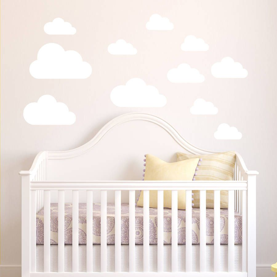 Floating Cloud Bed Cloud Wall Stickers Wall Sticker Modern Interiors And Nursery