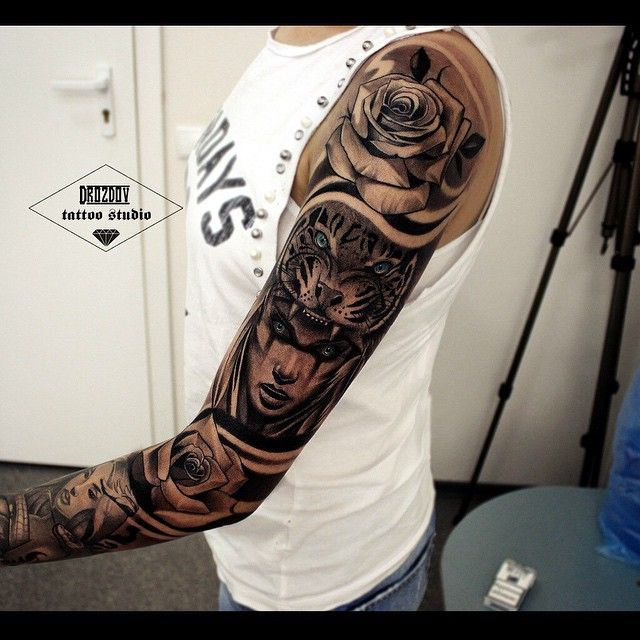 15 sick tattoos for guys asian style black and for Sick tattoo sleeves