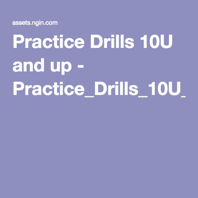 Practice Drills U And Up  PracticeDrillsUAndUpPdf
