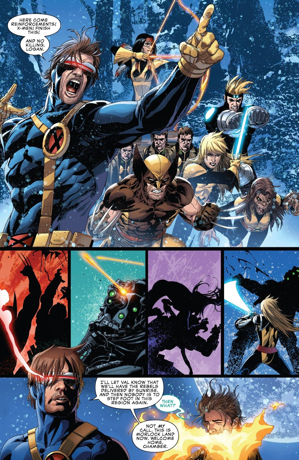 Cyclops Helps Mutantkind One Morlock At A Time In Uncanny X Men 14 Cyclops X Men X Men Superhero Comic