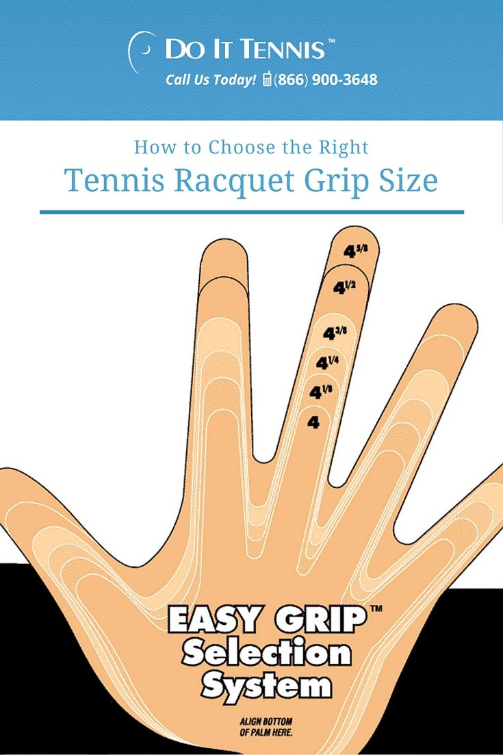 Choosing The Right Tennis Racquet Grip Size Tennis Blog Tennis Racquet Tennis Lessons For Kids Tennis
