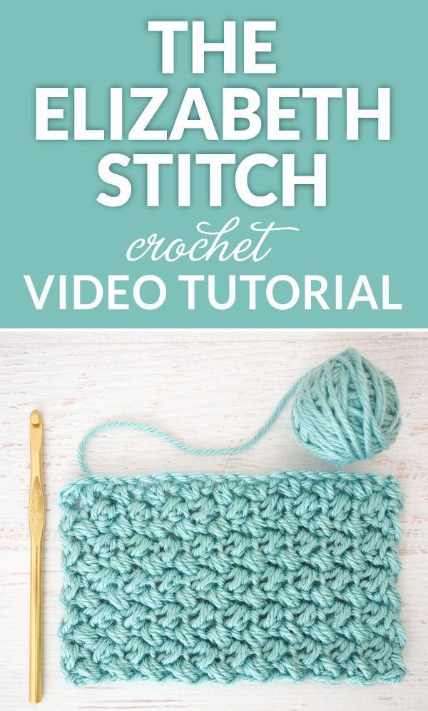 The Elizabeth Stitch - Easy Crochet Tutorial | Häkelmuster, Häkeln ...