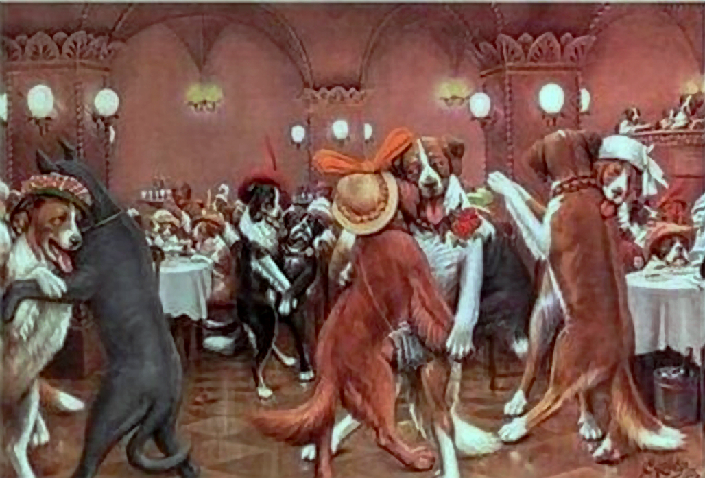 Coolidge Cassius Marcellus B 1844 New Year S Eve In Dogville 2c Coolidge Dogs Playing Poker Marcellus