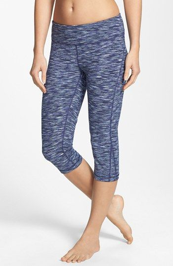 8f24cf45b92a9 Zella 'Live In' Eclipse Space Dye Slim Fit Capri Leggings available at  #Nordstrom
