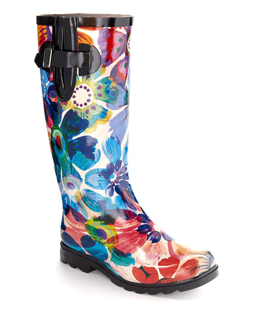 a50a1195f44 Rainy days won't slow you down in these sleek boots boasting an eye ...