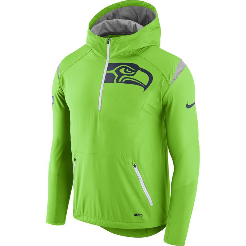 official store popular stores free delivery Seattle Seahawks Nike Sideline Fly Rush Half-Zip Pullover ...