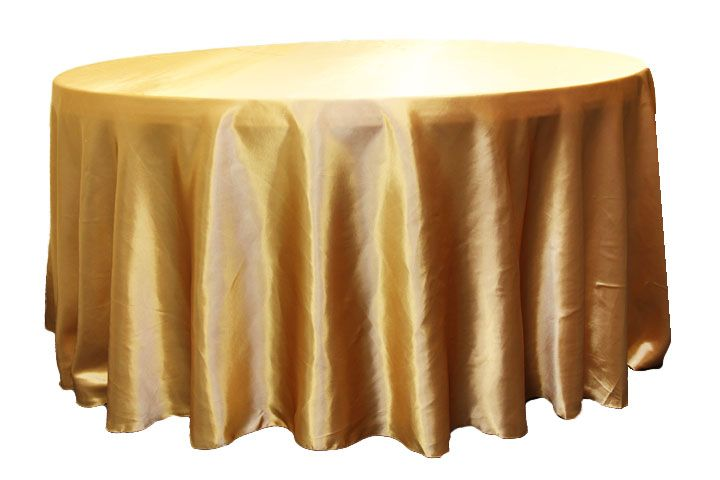 Satin 120 Round Tablecloth Gold Antique 120 Round Tablecloth