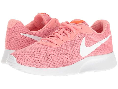 nike tanjun womens athletic shoes; nike tanjun lava glow total crimson white  zappos free shipping both