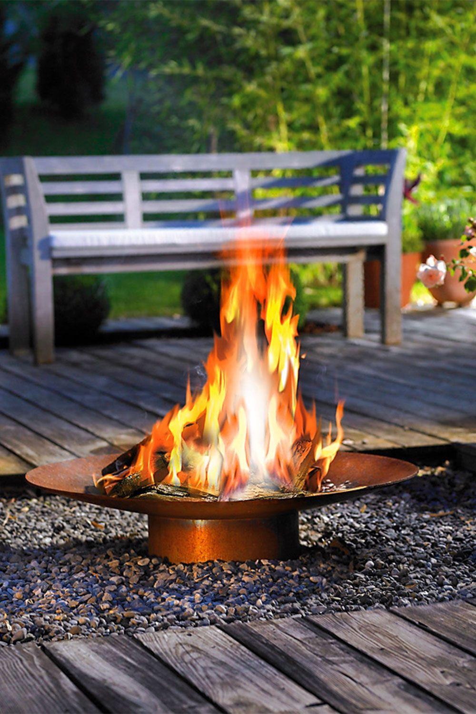 Outdoor Gasfeuerstelle Delight 40 C Feuerstellen Im Freien Feuerschale Feuerstelle Essen