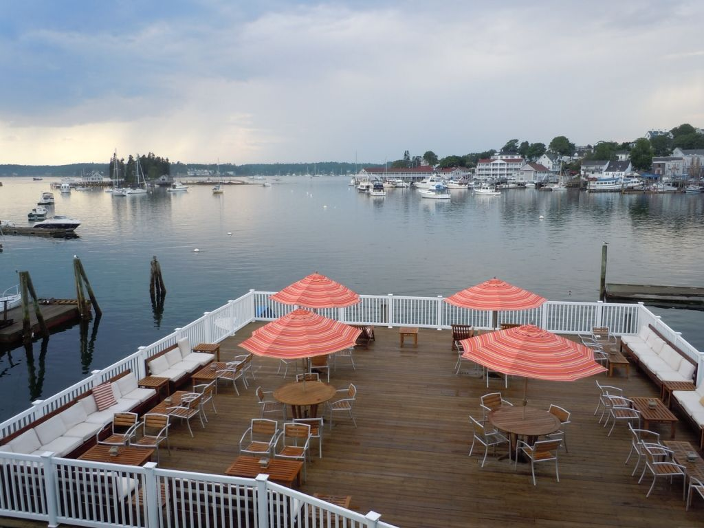 Boothbay harbor view from rocktide inn boothbay harbor