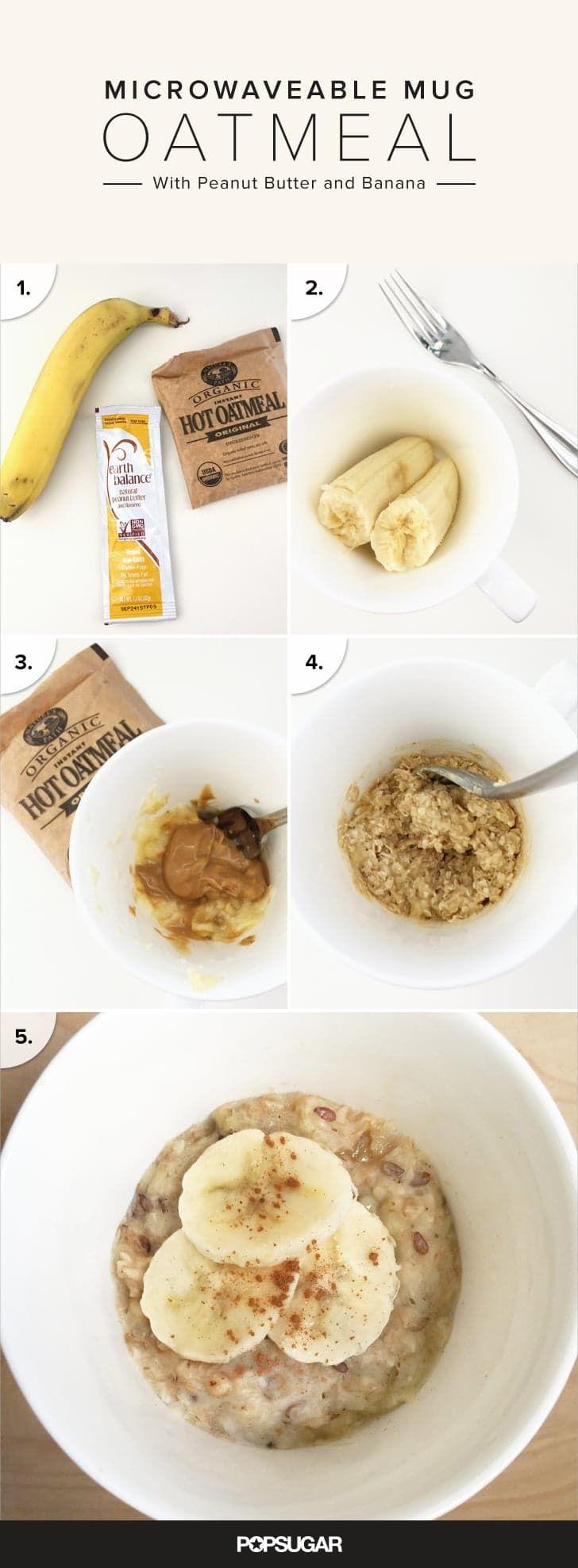 Microwaveable Peanut Er And Banana Oatmeal Recipe Bananas