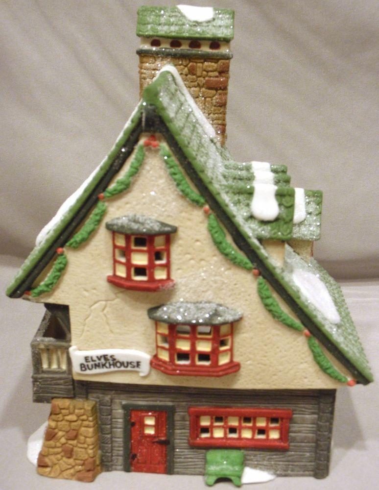 DEPT 56 ELF BUNKHOUSE HERITAGE VILLAGE NORTH POLE CHRISTMAS BUILDING 5601-4