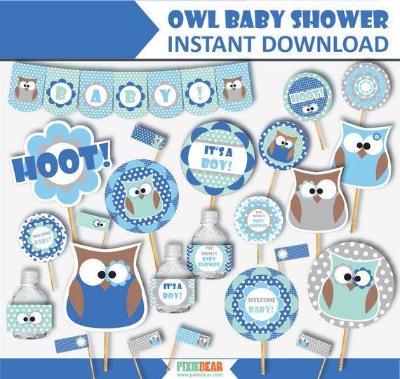 Owl Baby Shower Decorations And Invitations Printable Owl