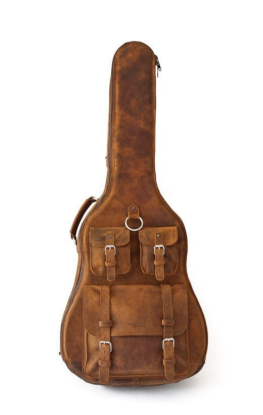 love this keep it classic and cool perfect for travel leather guitar case unique cafe. Black Bedroom Furniture Sets. Home Design Ideas