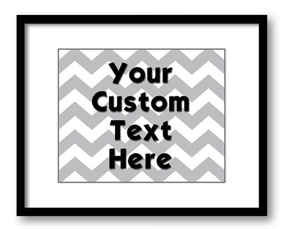 Art Prints Designed Custom in Your Words by JustSayingPrints