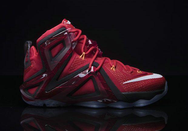 huge discount 61a29 dfe96 Nike LeBron 12 Elite Team University Red Bright Citrus ...