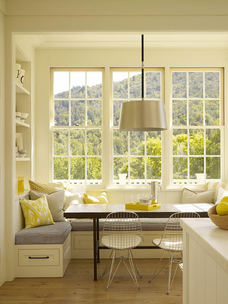 Bay Window Nook 15 stunning kitchen nook designs | nook, breakfast nooks and bay