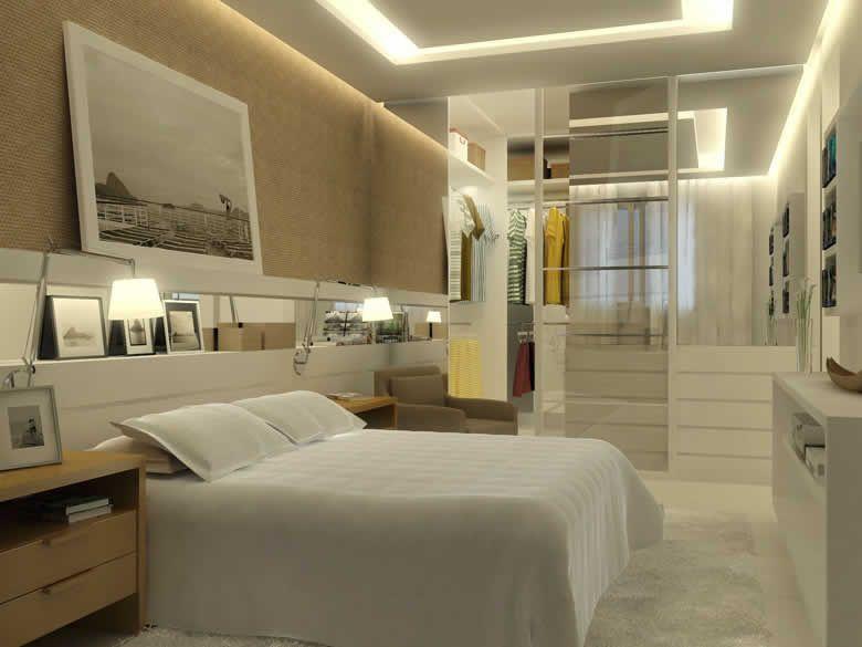 Confira ambientes com paredes pintadas na cor bege  Bedrooms, Quartos and De