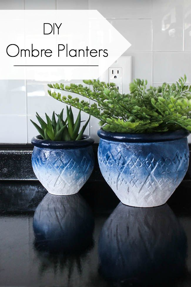 Painted Ombre Ceramic Pots In Just 5 Minutes Diy Ombre