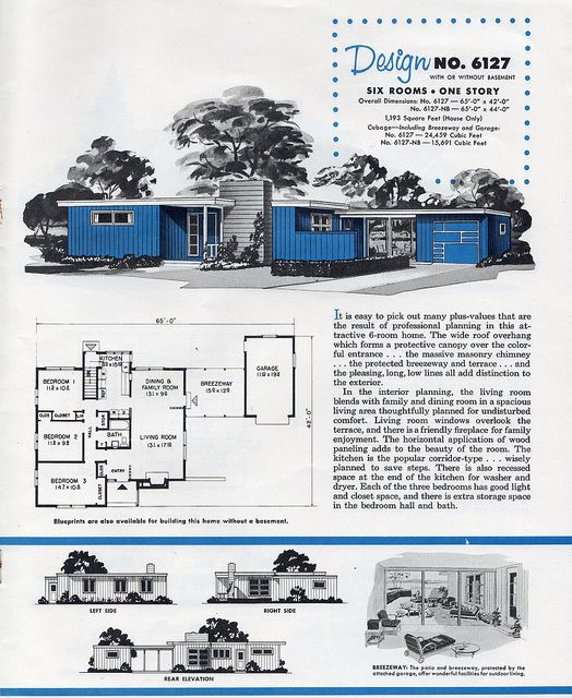 Weyerhauser 4 Square 1956 Craftsman Style House Plans Model House Plan House Plans With Pictures
