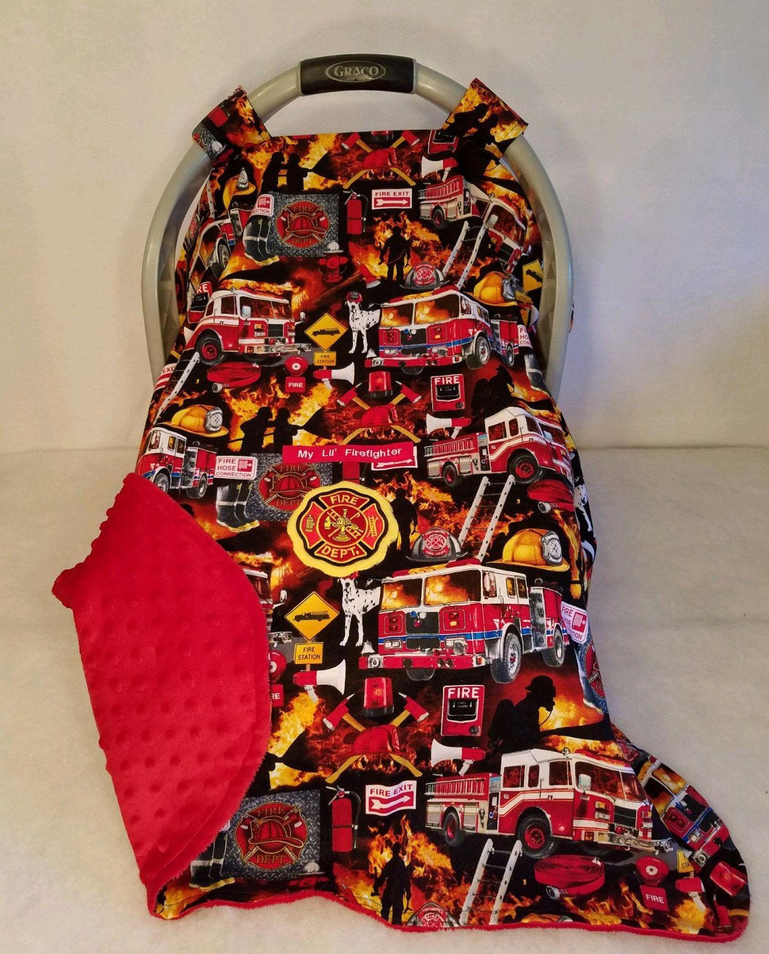 Car Seat Canopy Muddy Orange Cotton Camo Baby /& Blaze Orange Minky Dot Lining Cozy Hand Made Infant Custom Embroider My Little Dear Antlers
