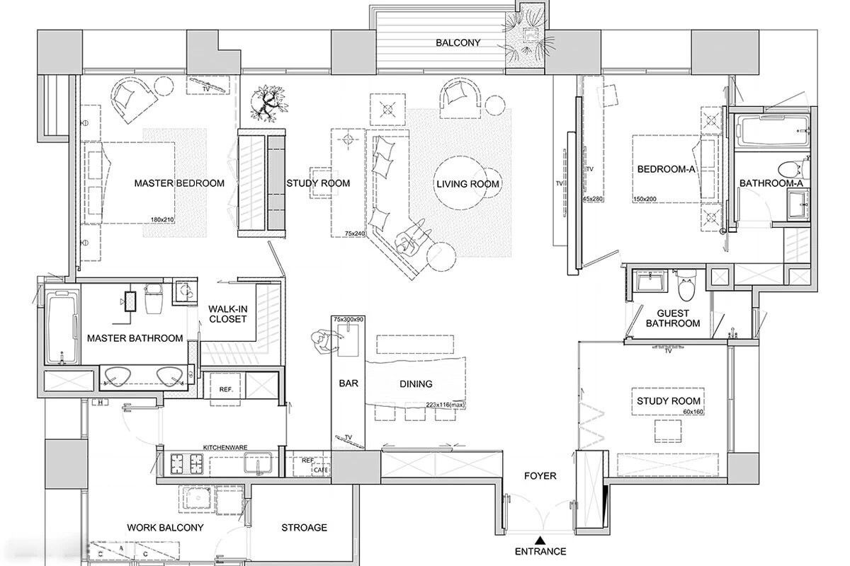 Asian Interior Design Trends In Two Modern Homes With Floor Plans Home Design Floor Plans Floor Plan Design Interior Design Plan
