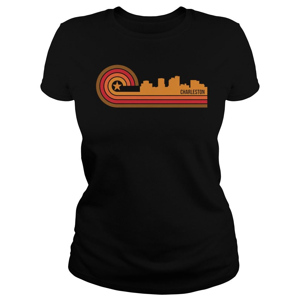 Order this limited edition Retro Style Charleston West Virginia Skyline T-Shirt T- shirt from Landtees now #westvirginia